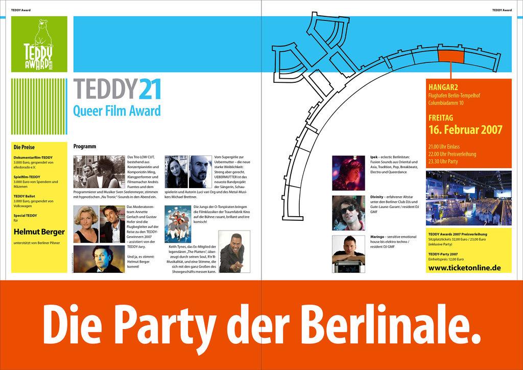 Teddy 21 · Programmheft